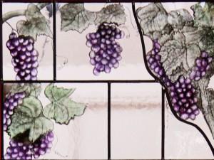 raamdetail druiventrossen