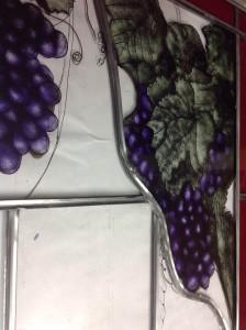 voorbeeld met druiventrossen rijp voor de pluk
