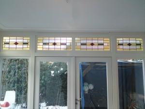 aanbouw serre - glas in lood naar bestaand patroon