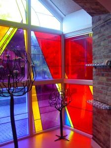 panelen vervaardigd uit mond geblazen glas