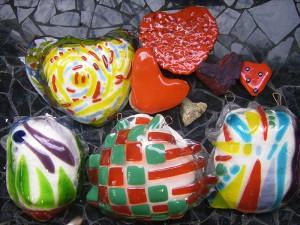 glaskunst fusing techniek op basis van mallen van gewone stenen