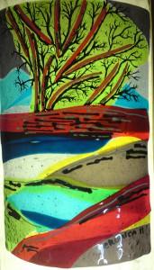 glaskunst fusing techniek in combinatie met brandschilderwerk