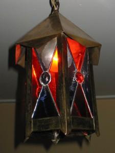 lantaarn - met tiffany en glasjuweel
