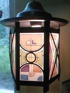 art deco gebrandschilderde lantaarn