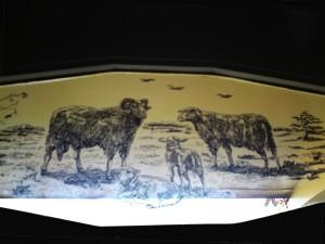 Familie Mouton - heideschaap - voordeurraam