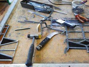glazeniers gereedschappen