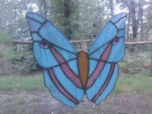 vlinder tiffany mobiel