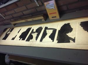 tweede proces brandschilderen, het aanbrengen van schaduw