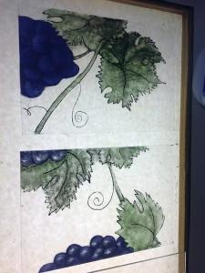 opbrengen pigmenten en schilderen met licht, weg tamponeren van de pigmenten door Veronica