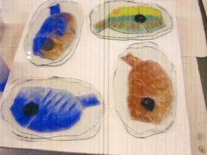 tropische vissen: glaskunst, glas smelten, ontwerp Gaby Bovelander