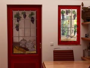 Het was een mooie brandschilder opdracht. het 2e schuifdeurraam en 3e - vaste - raam zijn geplaatst