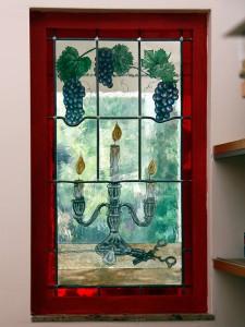 Wat een mooi resultaat, Veronica heeft toch wat van de teken- en schilderlessen opgestoken :) het 3e, vaste raam, maakt het drietal compleet