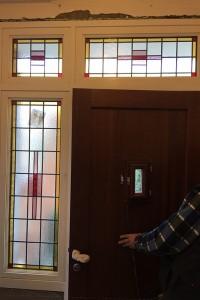 Glas in lood, nieuw naar bestaand ontwerp in dubbel isolatieglas geplaatst, Deventer