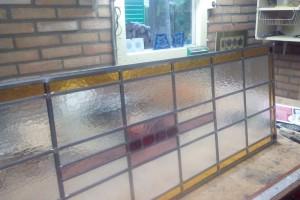 Glas in lood, nieuw naar bestaand ontwerp, klaar om in dubbel isolatieglas te worden geplaatst